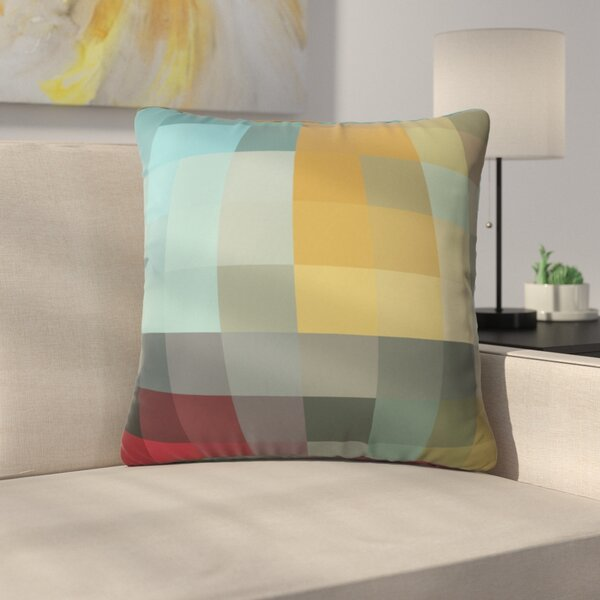 Modern Throw Pillow by East Urban Home