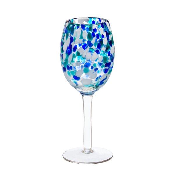 Allen Confetti Glass 12 oz. Stemmed Wine Glass by Ivy Bronx