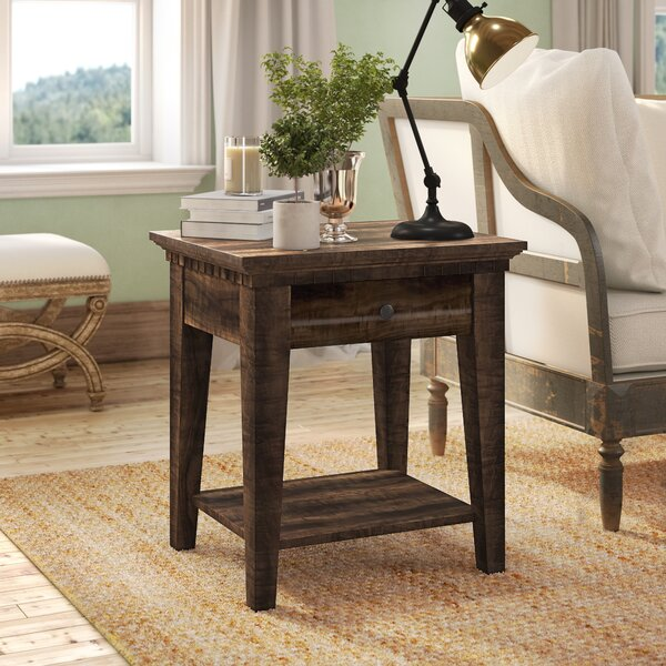Suzann End Table by Laurel Foundry Modern Farmhouse