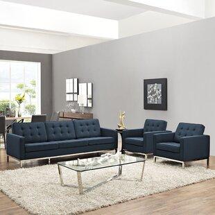 Cassian 3 Piece Living Room Set by Gold Flamingo