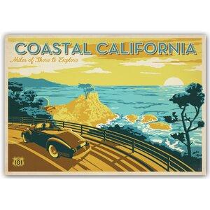Coastal California Vintage Advertisement by East Urban Home
