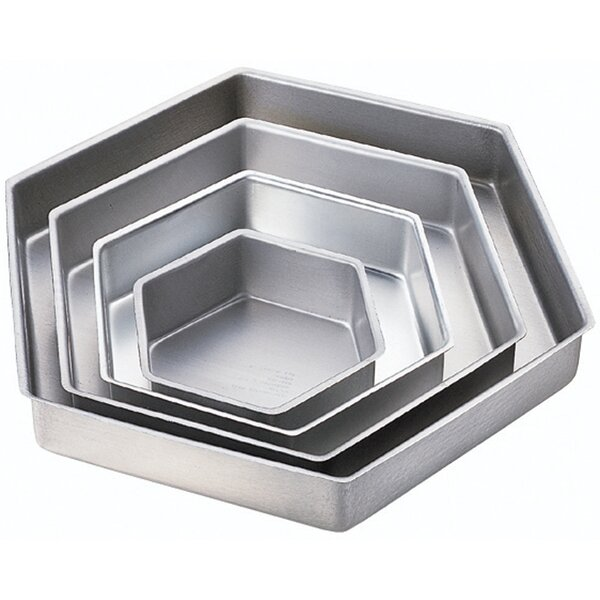 4 Piece Hexagon Performance Pan Set by Wilton