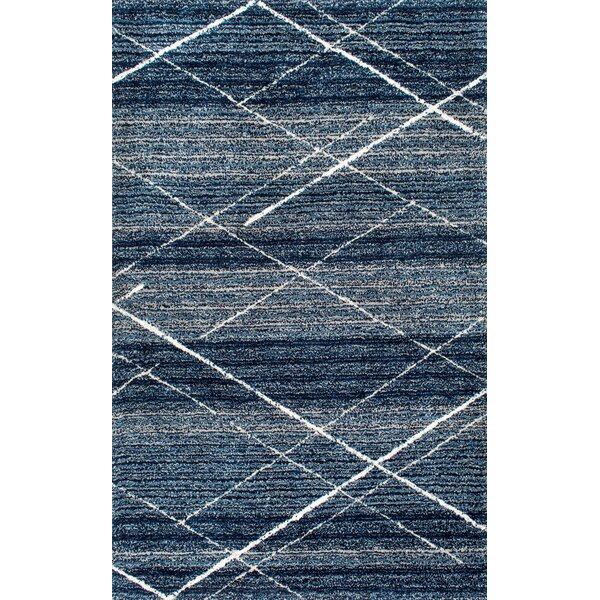 Hickman Hand-Tufted Blue Area Rug by Wade Logan