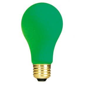 Green 120-Volt Incandescent Light Bulb (Set of 19) by Bulbrite Industries
