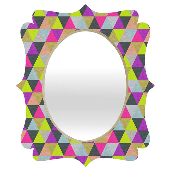 Bianca Green Ocean of Pyramid Quatrefoil Wall Accent Mirror by Deny Designs