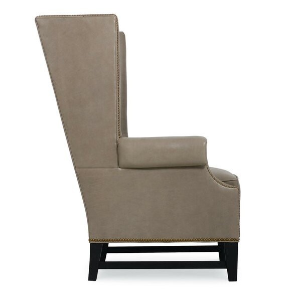 Grant Leather Wingback Chair by CR Laine