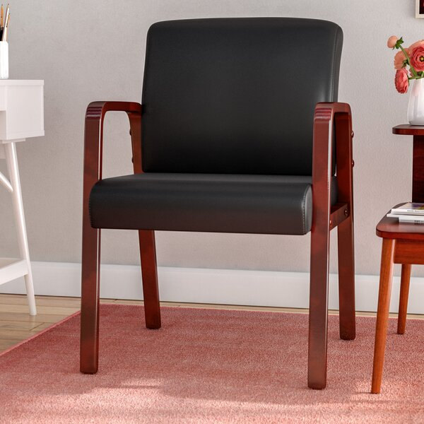 Barcia Series Leather Lounge Chair by Ebern Designs
