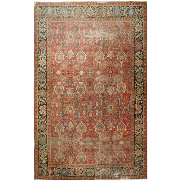 Lazarus Antique Hand-Knotted Wool Rust/Blue Area Rug
