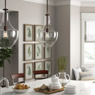 1-Light Single house Pendant on