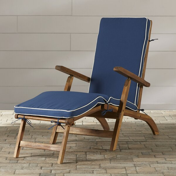 Barksdale Chaise Lounge with Cushion by Beachcrest Home