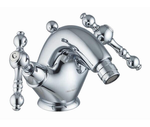 Epoque Double Handle Horizontal Spray Bidet Faucet with Single Hole by Fima by Nameeks