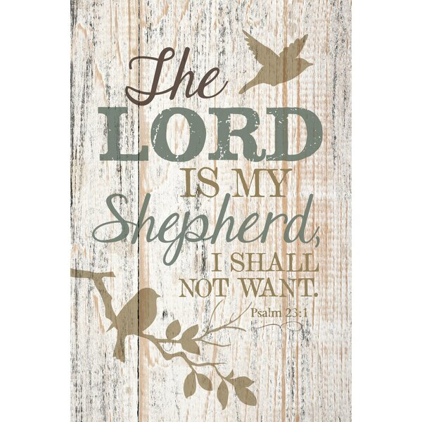 The Lord Is My Shepherd… Textual Art Plaque by Dexsa