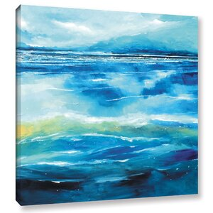 Seascape V Painting Print on Wrapped Canvas by Breakwater Bay