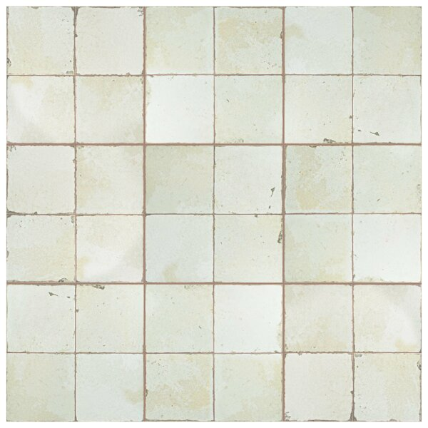 Royalty 17.63 x 17.63 Ceramic Field Tile in White by EliteTile