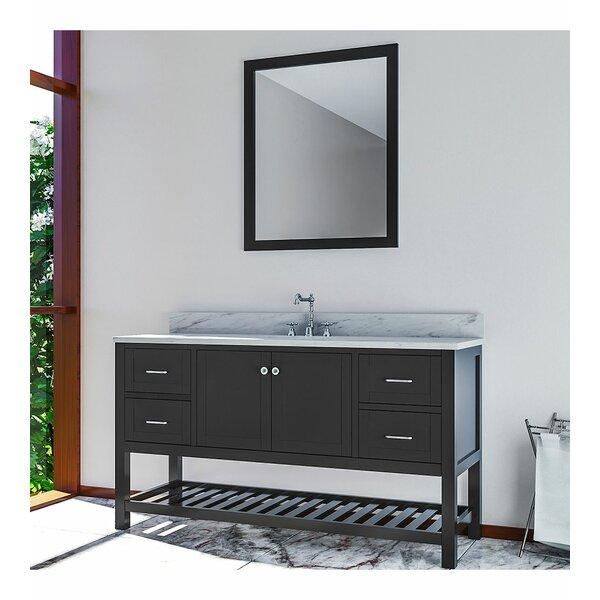 Benavidez 61 Single Bathroom Vanity Set with Mirror