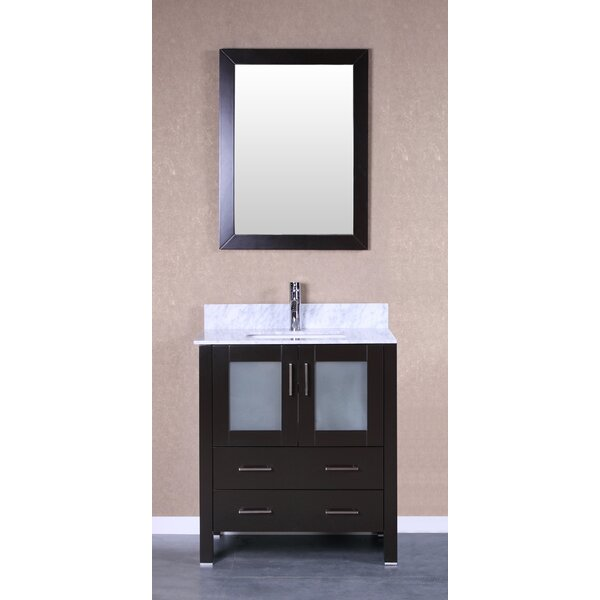 Trieste Allier 30 Single Bathroom Vanity Set with Mirror by Bosconi