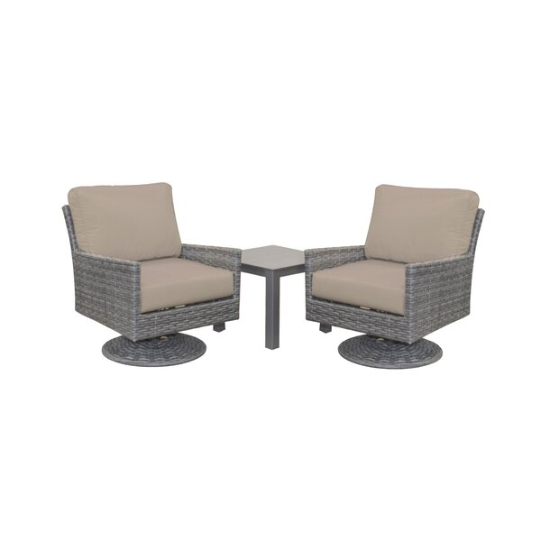 Macklin Glider Deep Seating Group with Sunbrella Cushions by Ebern Designs
