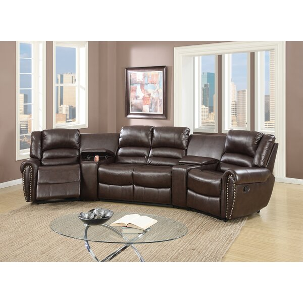 Reclining Home Theater Sectional by Darby Home Co