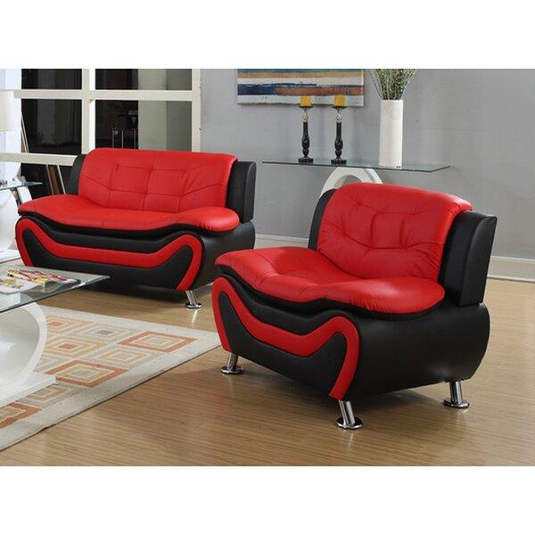 @ France Leather Configurable Living Room Set by Orren Ellis