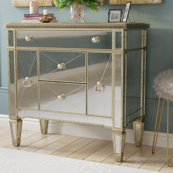 Roehl Mirrored 5 Drawer Chairside Cabinet by Willa Arlo Interiors Willa Arlo Interiors