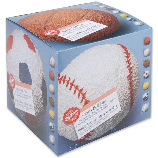 4 Piece Sports Ball Novelty Cake Pan Set by Wilton