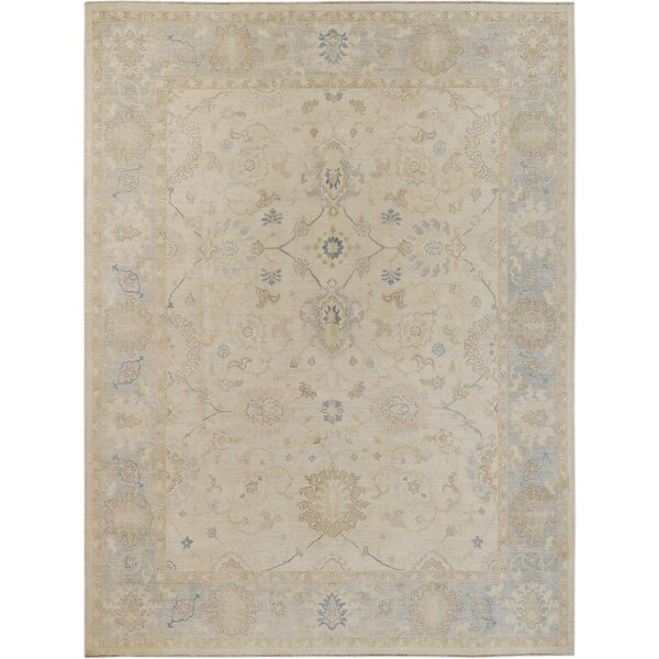 Hand-Knotted Ivory Area Rug by Wildon Home ®