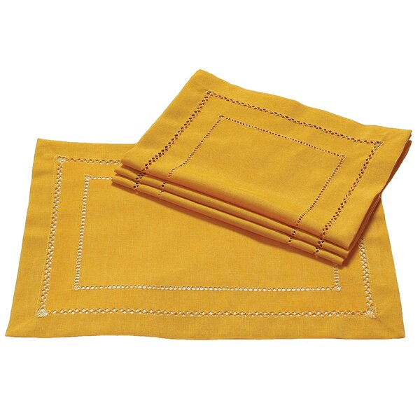 Handmade Double Hemstitch Easy Care Placemat (Set of 4) by Xia Home Fashions