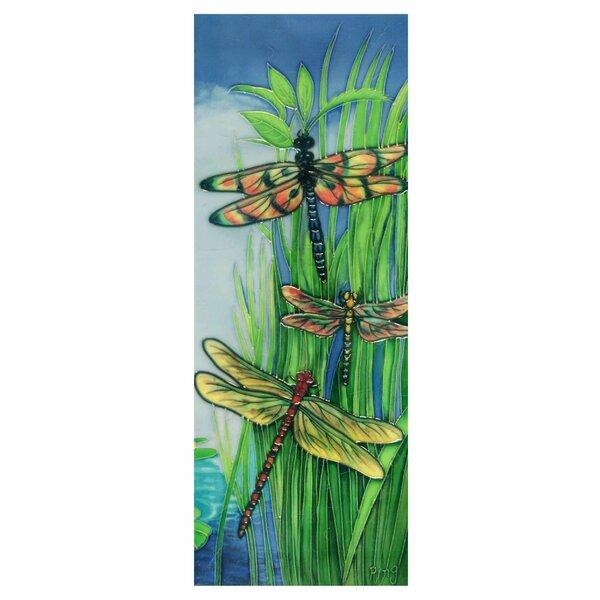 Vertical Dragonflies Tile Wall Decor by Continental Art Center