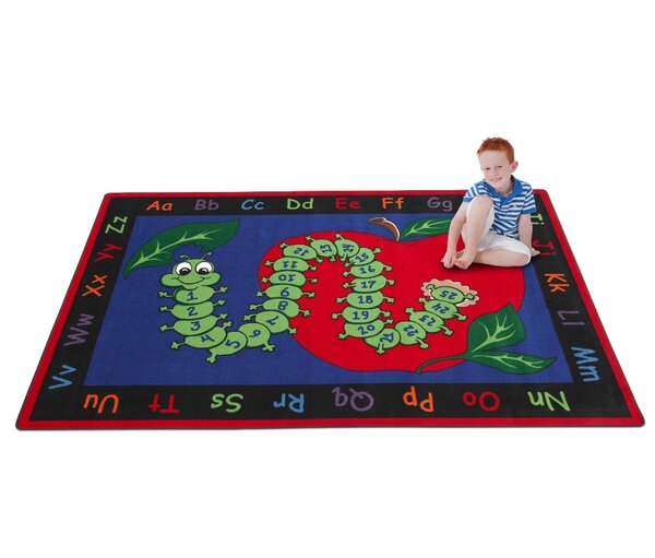 Learn with Inchworm Kids Rug by Kid Carpet