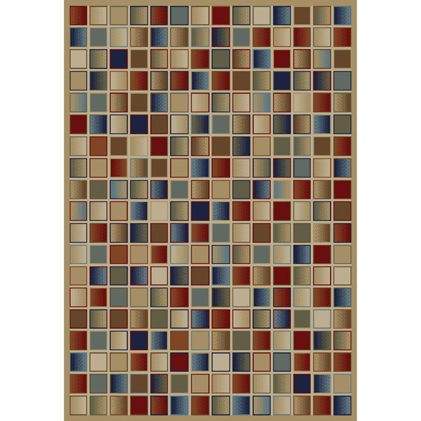 Savoy Jewel Checkerboard Brown Area Rug by Ebern Designs
