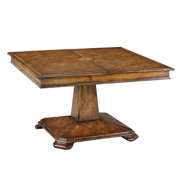 Exley Extendable Solid Wood Dining Table by Charlton Home
