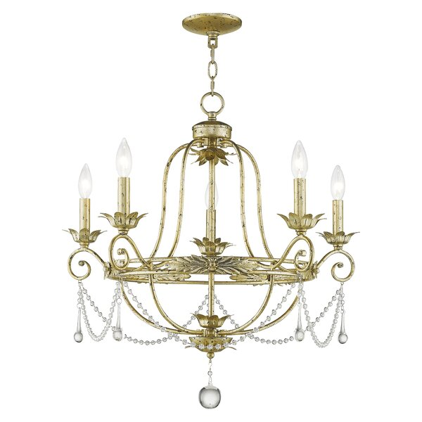 Cargan 5-Light Candle Style Empire Chandelier with Crystal Accents Accents by Astoria Grand Astoria Grand