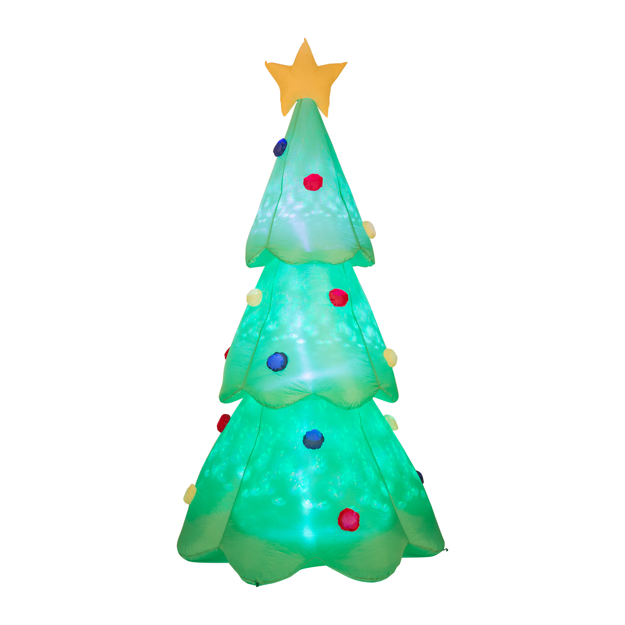 Glitzhome Lighted Christmas Tree Decor Inflatable & Reviews | Wayfair