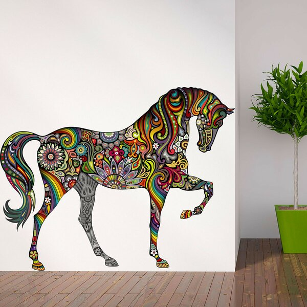 A Horse of Many Colors Wall Sticker by My Wonderful Walls