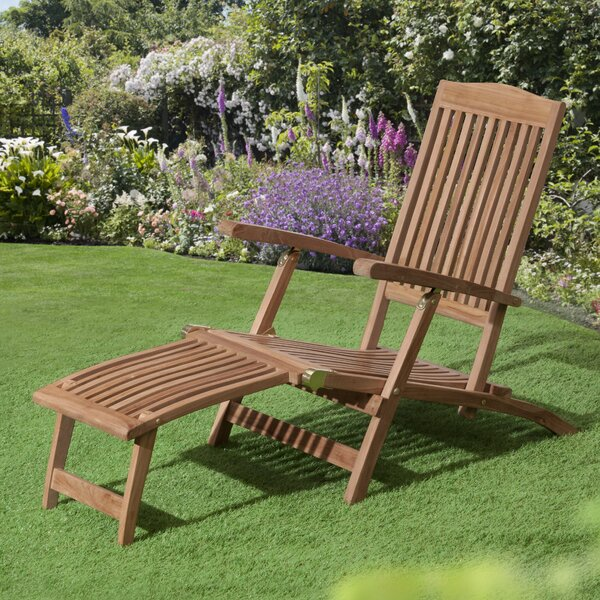Reade Teak Patio Chair by Loon Peak