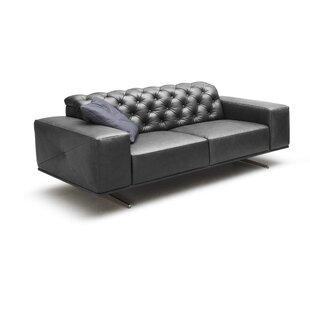 Bensley Italian Leather Sofa by Orren Ellis