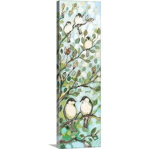 'Mos Chickadees' by Jennifer Lommers Painting Print on Canvas by Great Big Canvas