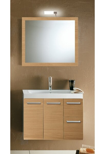 Linear 30 Single Wall Mounted Bathroom Vanity Set with Mirror by Iotti by Nameeks