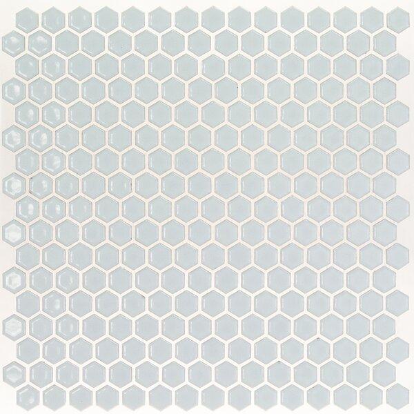 Bliss 0.6 x 0.6 Ceramic Mosaic Tile in Modern Gray by Splashback Tile
