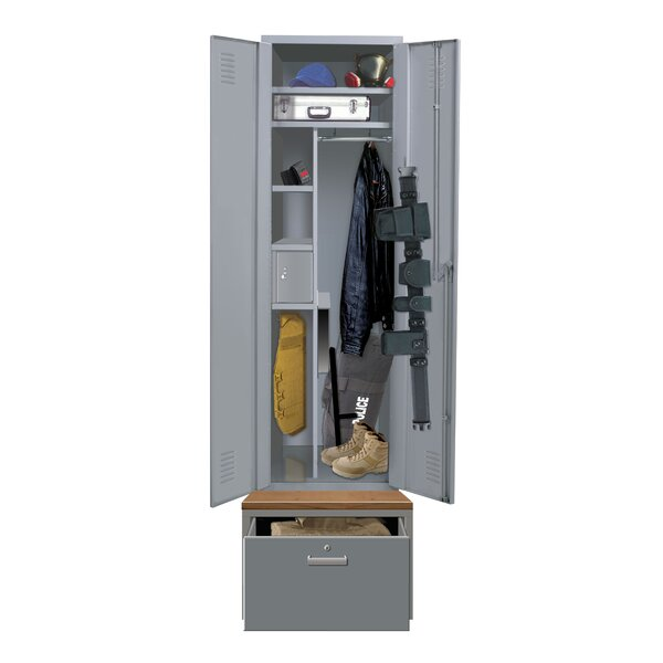 Welded 3 Tier 1 Wide Employee Locker by Hallowell