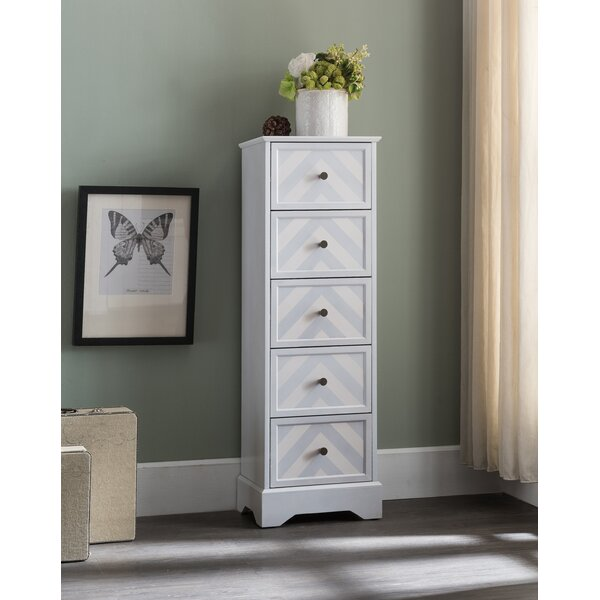 Natacha 5 Drawer Square Accent Cabinet