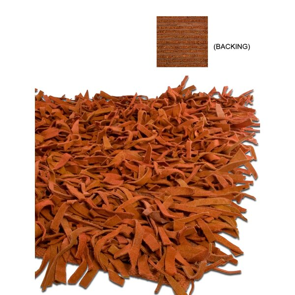 Thalassa Premium Leather Terracotta Rug by IXI
