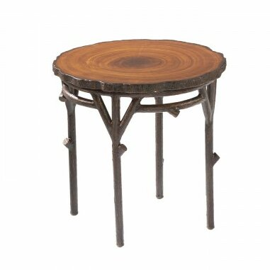 Chatham Heartwood Round Wooden End Table by Woodard