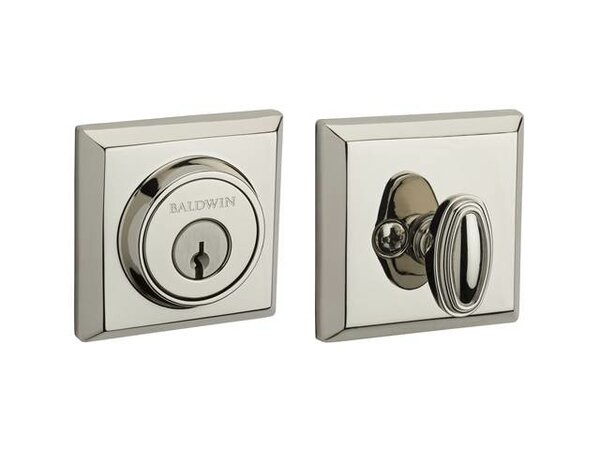 Traditional Square Single Cylinder Deadbolt by Baldwin