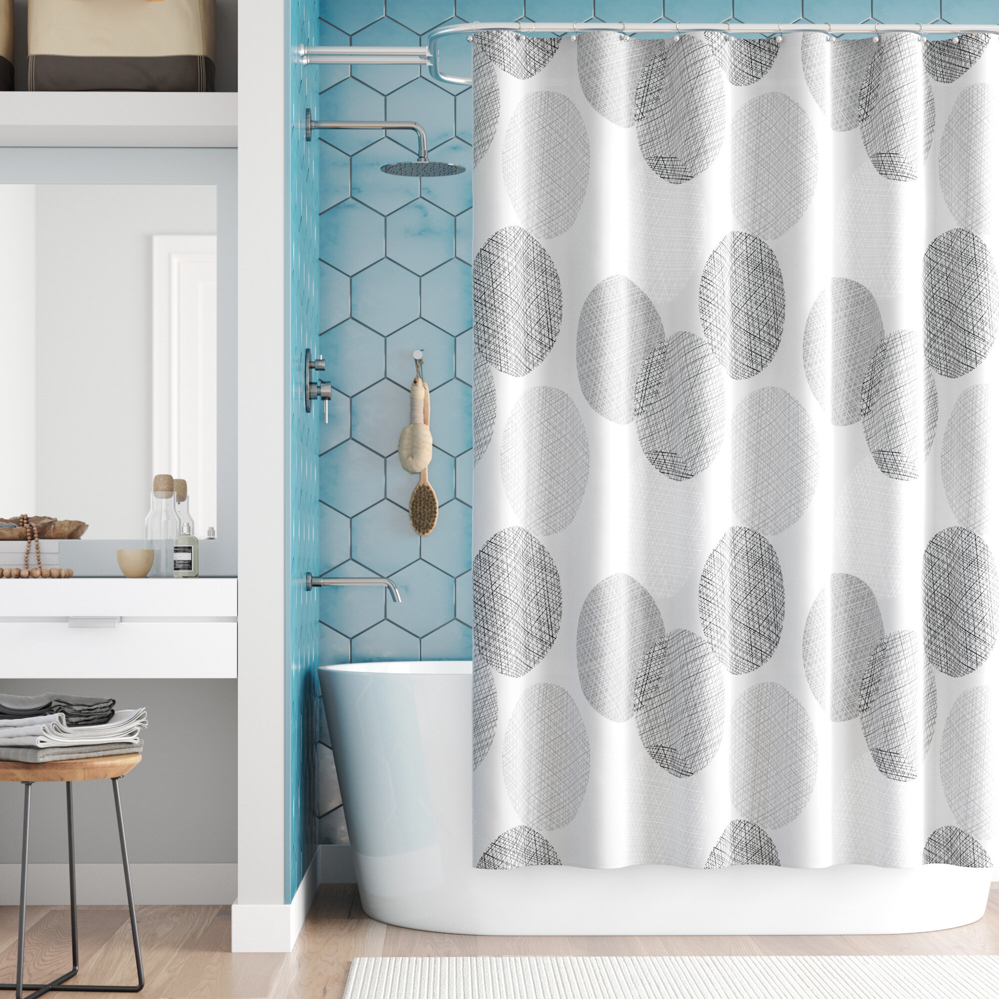 Zipcode Design Jeske Microfiber Shower Curtain Reviews