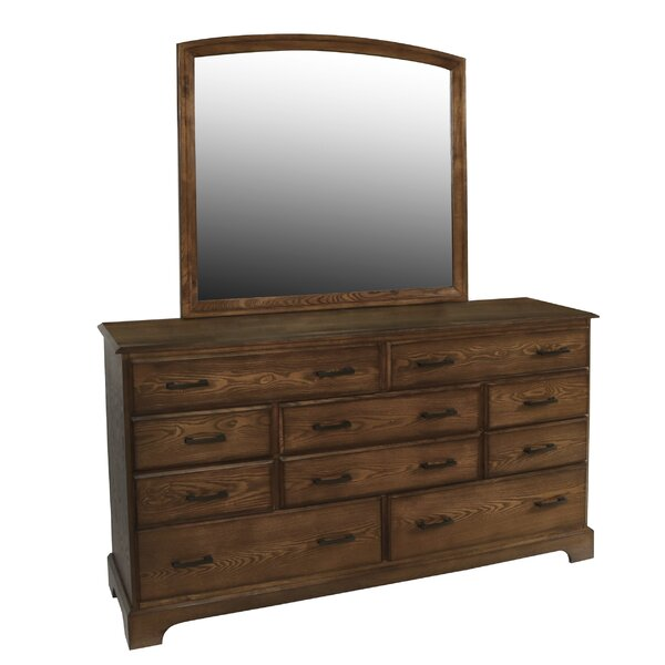 Mayfair 10 Drawer Dresser with Mirror by Alcott Hill
