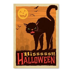 Cat_Halloween Vintage Advertisement by Wrought Studio