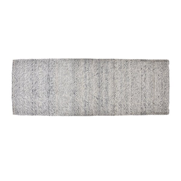 Boston Hand-Woven Wool Blue Area Rug by Foundry Select