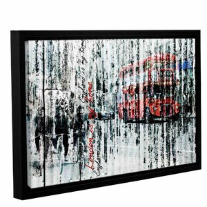 'London Is My Home' Framed Graphic Art Print on Canvas by Latitude Run