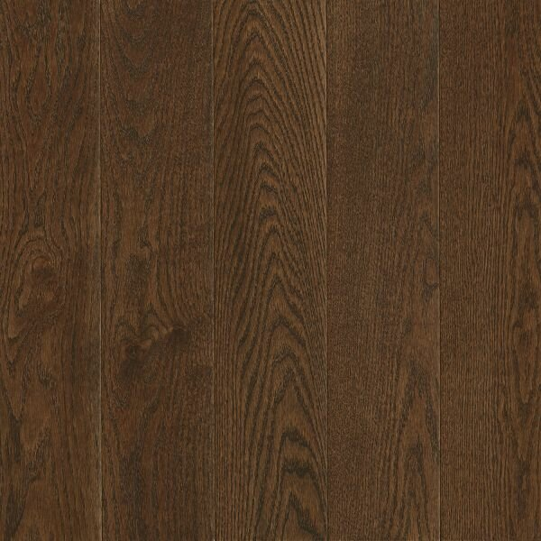 Prime Harvest 5 Solid Oak Hardwood Flooring in Low Glossy Cocoa Bean by Armstrong Flooring